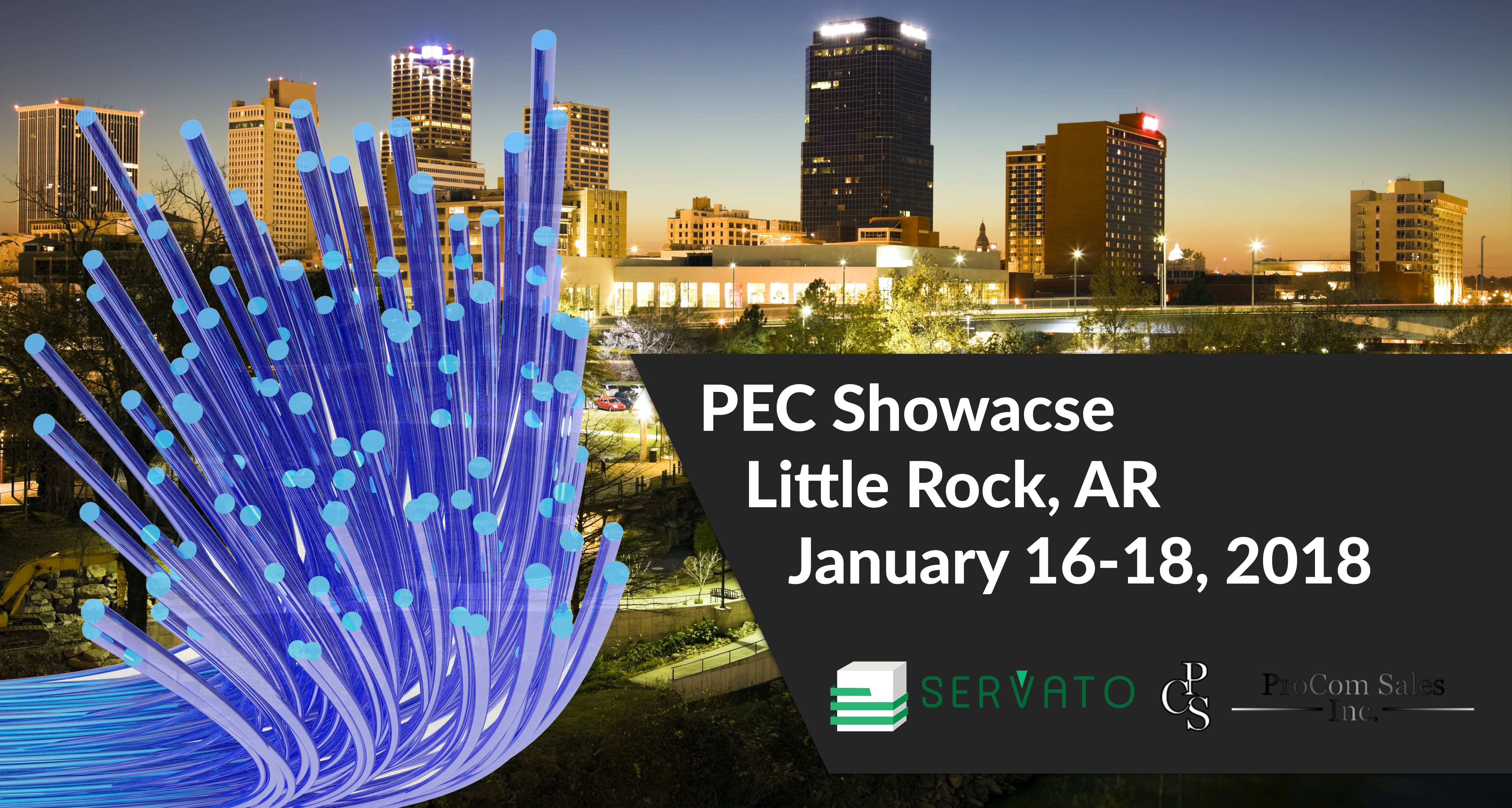 Here at the PEC Showcase in Little Rock!