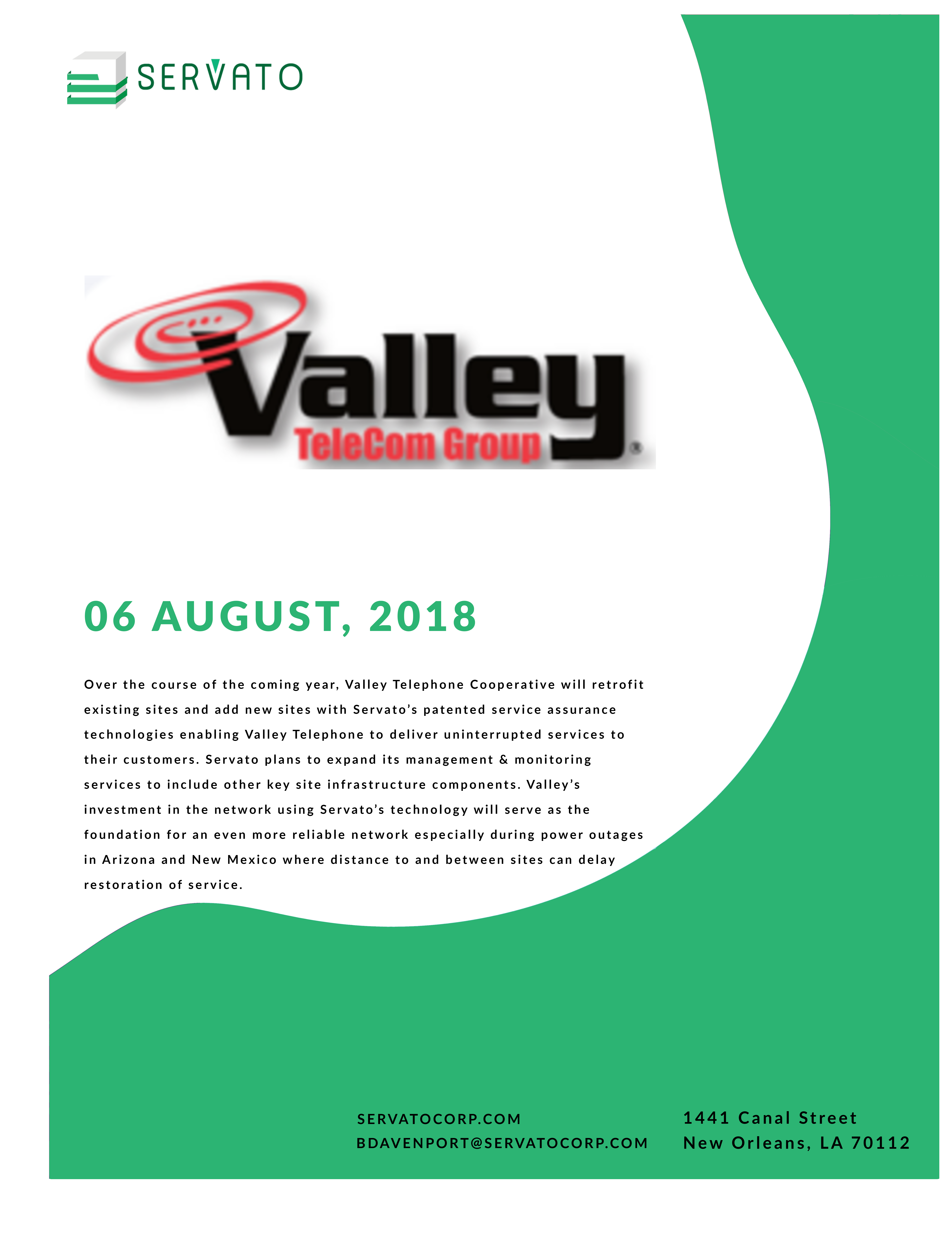 Valley Telephone Hardens Network